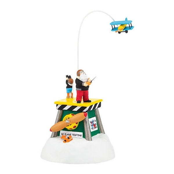 "Department 56 North Pole Series ""Animated Flight Test"" Porcelain Accessory #4036549"