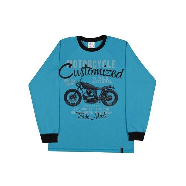 Tween Boys Long Sleeve Shirt Graphic Tee Cotton Pulla Bulla Sizes 10-16 Years