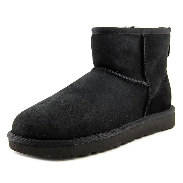 Ugg Australia Classic Mini II Women Round Toe Suede Black Winter Boot