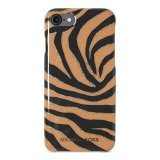 Michael Kors Womens Cell Phone Case Glitter Animal Print