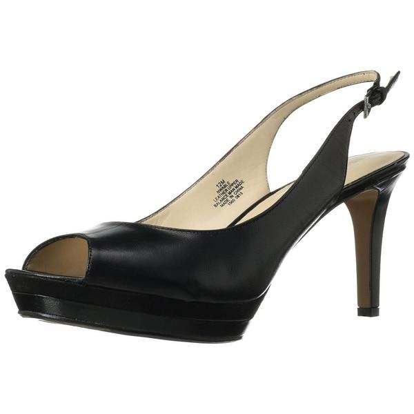 be9250b96d6 Shop Nine West Women s Able Peep Toe Slingback Heeled Sandals - Free ...