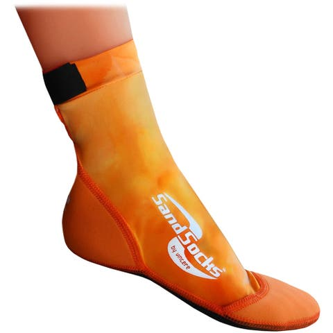 Sand Socks Classic High Top Neoprene Athletic Socks - Orange Sunset