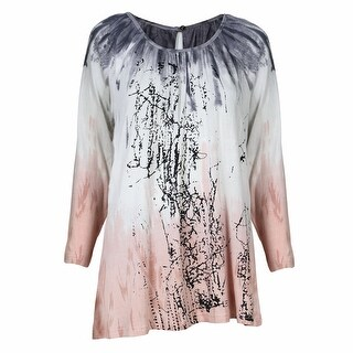 Women's Parsley & Sage Dawn Floral Scoop Neck Boho Tunic Top