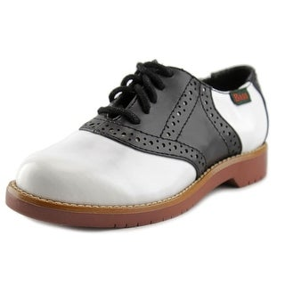 GH Bass & Co Enfield Youth Round Toe Leather White Oxford