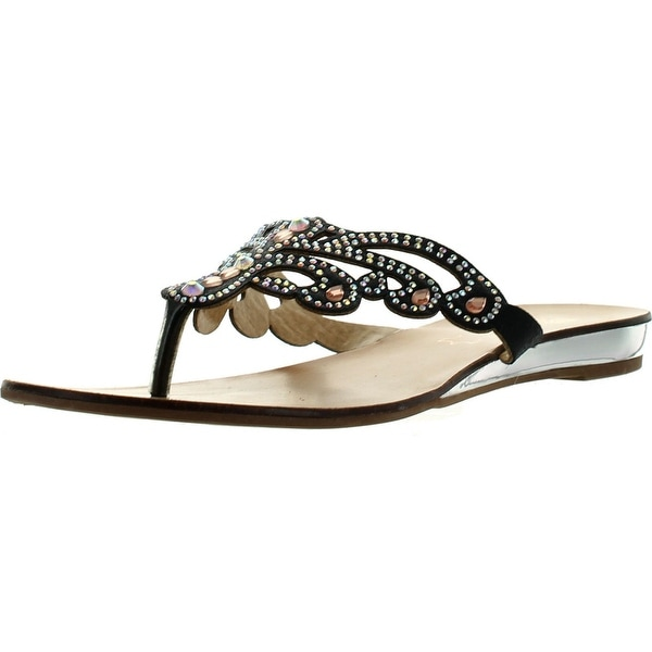 Good Choice Womens Miss Universe Glitzy Fashion Flip Flop Sandals