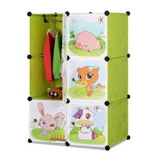 Whimsical Childrens 6 Cube Interlocking Multipurpose Animal Themed