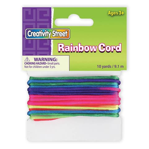 Creativity street rainbow elastic cord 10 yds 3517