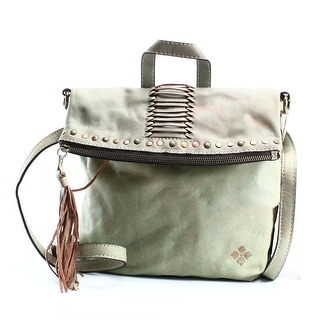 Patricia Nash NEW Green Leather Convertible Washed Luzille Backpack
