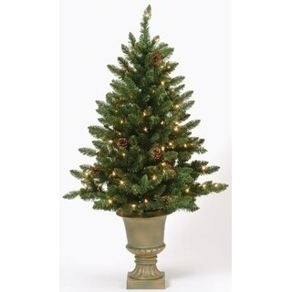 4' Pre-Lit Potted Freemont Pine Artificial Christmas Tree - Clear Lights