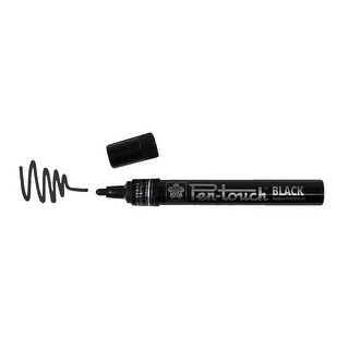 Sakura PenTouch Low Odor Xylene-Free Permanent Paint Marker, 2 mm Medium Tip, 142 mm, Black