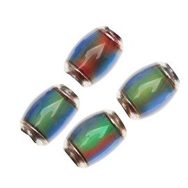 Mirage Color Changing Mood Beads - 10.5 x 7mm Tube Beads (4)