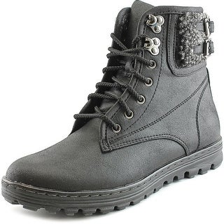 White Mountain Kaylor Women  Round Toe Canvas Black Winter Boot