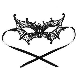 Women Spider Shaped Masquerade Costume Fancy Party Eyemask Lace Eye Mask Black