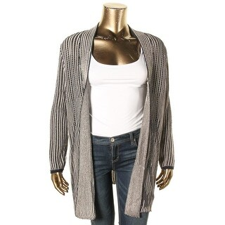 Nic+Zoe Womens Plus Cardigan Sweater Patterned Open Front