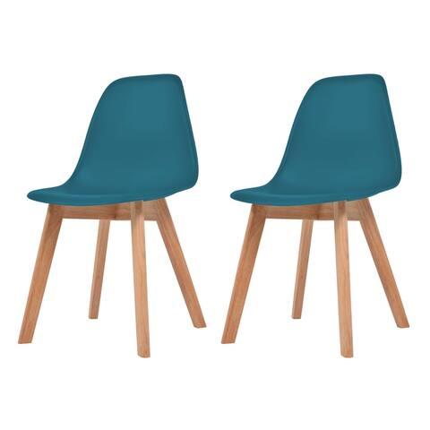 vidaXL Dining Chairs 2 pcs Turquoise Plastic