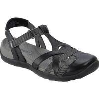 Bare Traps Women's Fifer T-Strap Sandal Black Polyurethane/Elastic