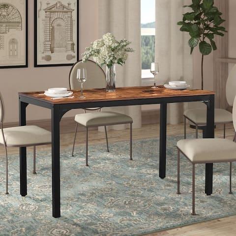 Veikous Industrial Dining Table Desk with Adjustable Footpad
