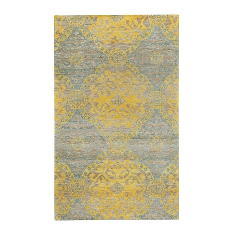 Round About-Ring Leader Transitional Hand Knotted Rugs