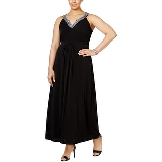 NY Collection Womens Plus Evening Dress Matte Jersey Embellished - 2x