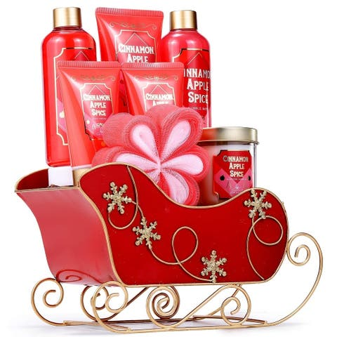 8 Piece Bath Set Cinnamon Apple Spice