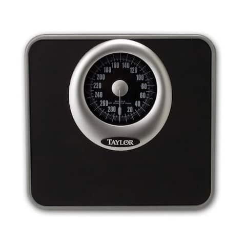 Taylor 48325072 Analog Bath Scale, Black, 300 Lb
