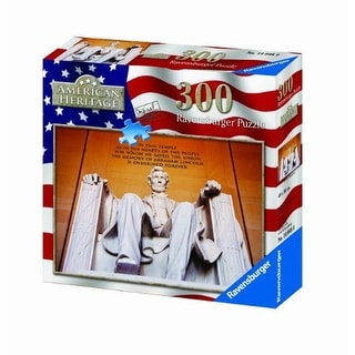 Ravensburger Lincoln Memorial 300PC American Heritage Jigsaw Puzzle - Red/White/Blue