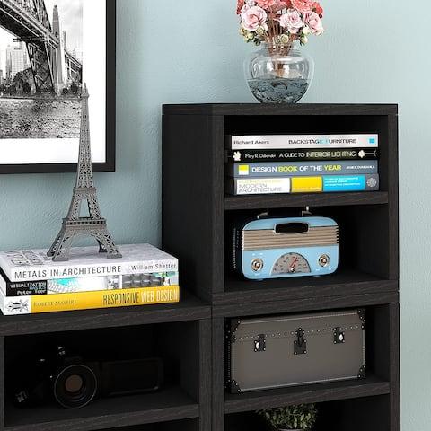 Way Basics Modular Connect Shelf Cube Cubby Storage Stackable Closet Organizer Display Shelf