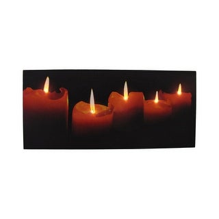 Flickering LED Candles Printed Canvas Wall Hanging