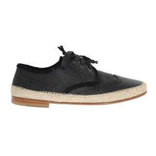 Dolce & Gabbana Dolce & Gabbana Black Leather Casual Derby Shoes