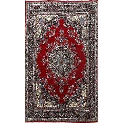 "Floral Traditional Red Kashmar Oriental Area Rug Living Room Carpet - 8'0"" x 11'9"""