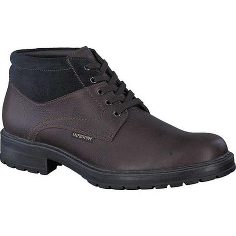 Mephisto Men's Lukas Ankle Boot Dark Brown/Navy Nevada Smooth Leather/Suede
