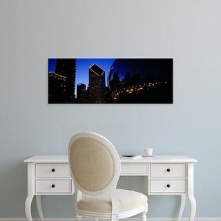 Easy Art Prints Panoramic Image 'Reflections of sculpture, Cloud Gate, Millennium Park, Chicago, Illinois' Canvas Art