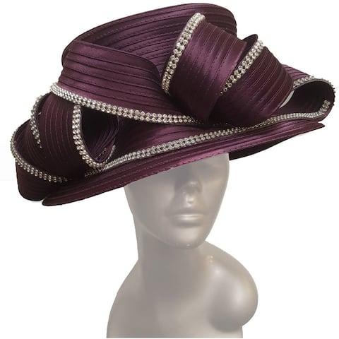 Women's Tea party Satin Ribbon Hat Church Couture Bridal Derby