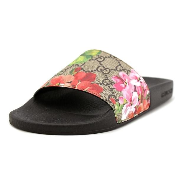 79274d96bb8 Gucci t.GG Supreme ST.Blooms Place Women Leather Multi Color Slides Sandal