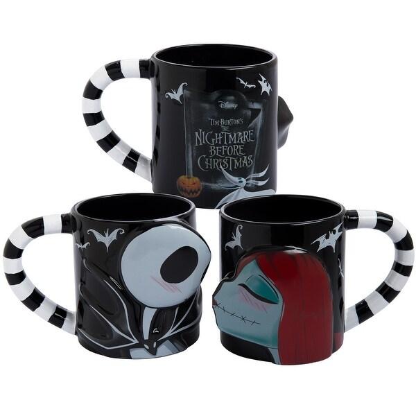 the nightmare before christmas jack sally 2 pc sculpted mug set