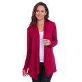 Simply Ravishing Women's Basic Long Sleeve Open Cardigan (Size: Small-5X) - Thumbnail 7