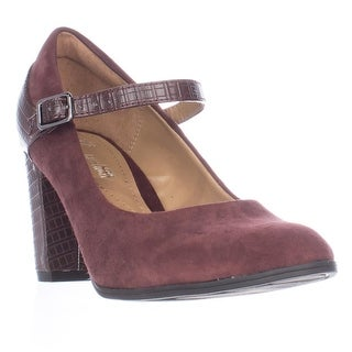 Clarks Bavette Cathy Mary Jane Comfort Pumps - Burgundy Combo