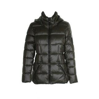 Inc International Concepts Olive Puffer Coat S