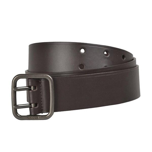 f7541732775 Shop Gucci Men s Dark Brown Leather Belt 357682 (95   38) - 95   38 ...