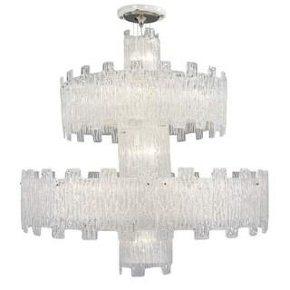 "Metropolitan N950080 24 Light 47"" Wide Crystal 2 Tier Waterfall Chandelier with"