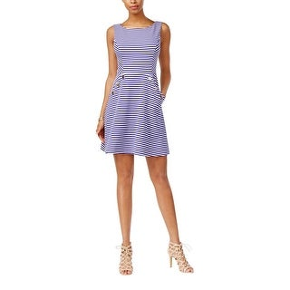 Jessica Simpson Womens Casual Dress Textured Striped