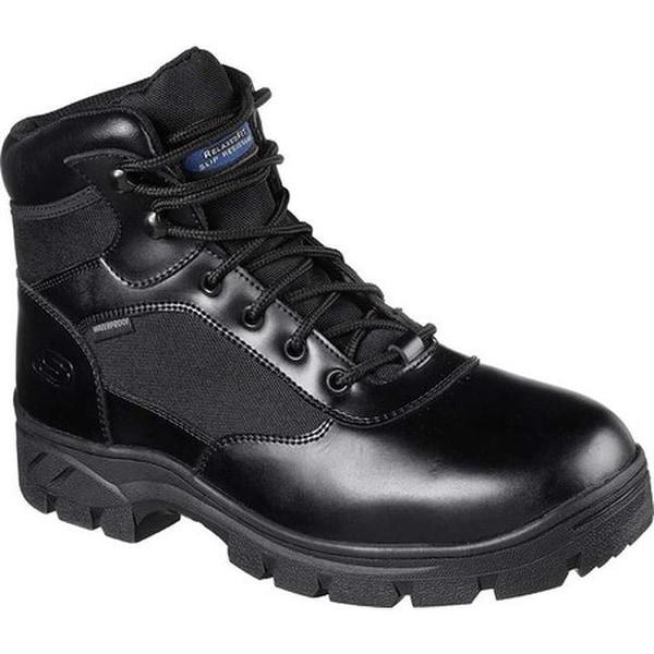 ff0c974e1cf69 Shop Skechers Men's Work Relaxed Fit Wascana Waterproof Boot Black ...