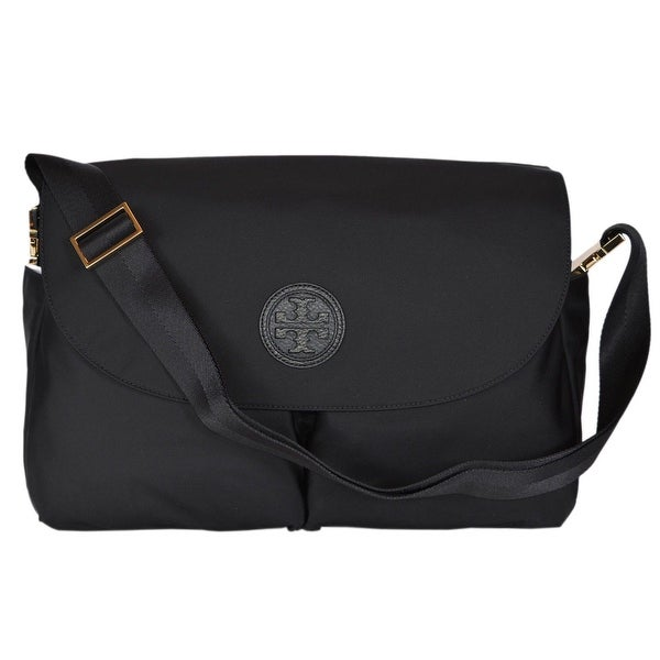 Tory Burch Women's Black Nylon Diaper Baby Bag W/Changing Pad