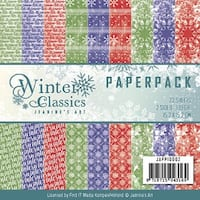 """Find It Jeanine's Art Paper Pack 6""""X6"""" 23/Pkg-Winter Classics, Double-Sided Designs"""
