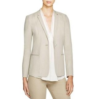 Elie Tahari Womens Wendy One-Button Blazer Notch Collar Long Sleeves