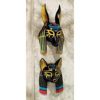 Design Toscano Masks of Ancient Egypt Wall Sculptures: Set of Two