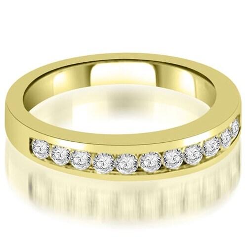 0.35 cttw. 14K Yellow Gold Channel Set Round Cut Diamond Wedding Band