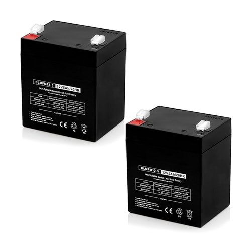 Replacement AGM SLA Battery 12V-5Ah (2-Pack) Replacement AGM SLA Battery