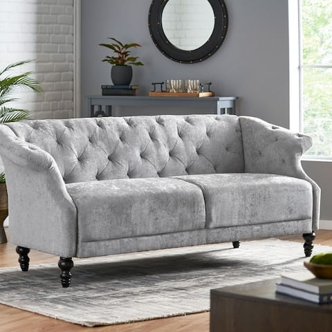 Morganton Indoor Tufted 3 Seater Sofa by Christopher Knight Home