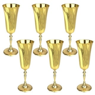 Design Toscano The Royal Chalice of Queen Genevieve Brass Goblets: Set of Six